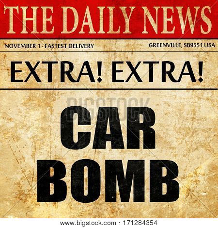 car bomb, article text in newspaper