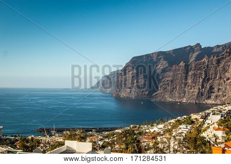 Los Gigantes Cliff in Canary Islands Tenerife Spain