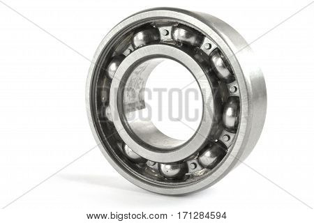 Single metal bearing on the white background.