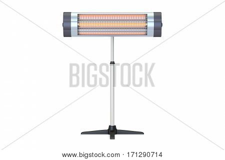 Halogen or infrared heater front view. 3D rendering isolated on white background