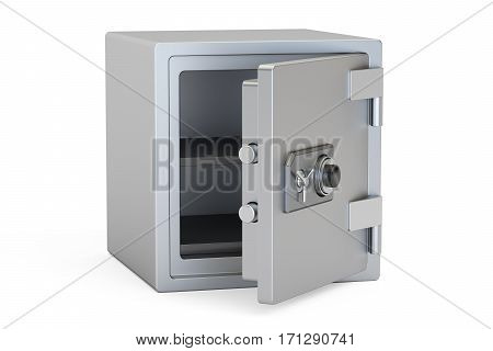 Safe Box With Combination Lock 3D rendering isolated on white background