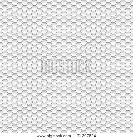 White Geometric abstract background with Hexagonal forms. illustration.