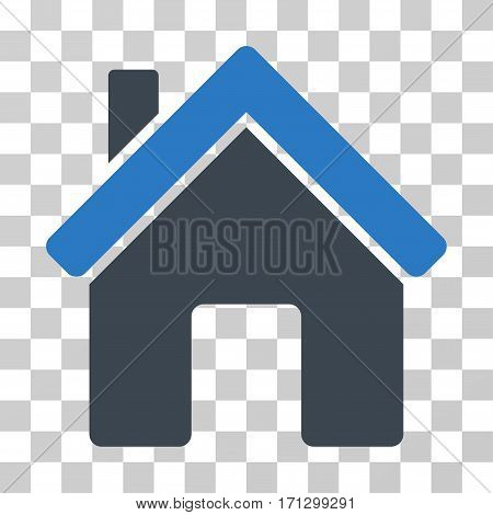 House icon. Vector illustration style is flat iconic bicolor symbol smooth blue colors transparent background. Designed for web and software interfaces.