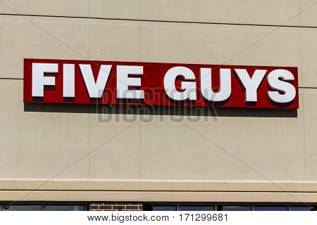 Indianapolis - Circa February 2017: Five Guys Restaurant. Five Guys is a Fast Casual Restaurant Chain in the US and Canada V