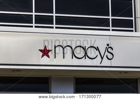 Indianapolis - Circa February 2017: Macy's Department Store. Macy's Inc. is one of the Nation's Premier Omnichannel Retailers VI