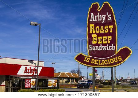 Indianapolis - Circa February 2017: Arby's Retail Fast Food Location. Arby's operates over 3300 restaurants III