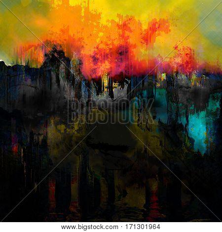 war in ukraine inspiration - city under bombs,