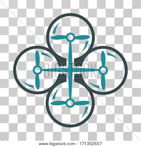 Drone Screws icon. Vector illustration style is flat iconic bicolor symbol soft blue colors transparent background. Designed for web and software interfaces.