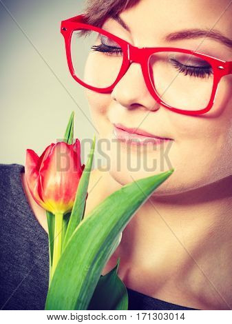 Passionate Lady In Glasses.