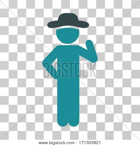 Gentleman Proposal icon. Vector illustration style is flat iconic bicolor symbol soft blue colors transparent background. Designed for web and software interfaces.