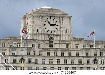 LONDON/ UK - SEPTEMBER 4. Clock tower of the Shell Mex House (built in 1930-31) on September 4, 2016 in London, UK.