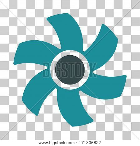 Rotor icon. Vector illustration style is flat iconic bicolor symbol soft blue colors transparent background. Designed for web and software interfaces.