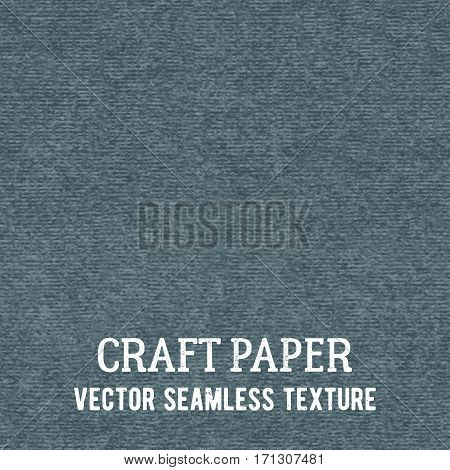Craft paper seamless vector texture. Closeup of realistic gray cardboard or parchment background.