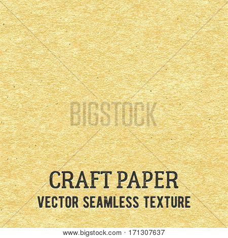 Craft paper seamless vector texture. Closeup of realistic beige cardboard or parchment background.