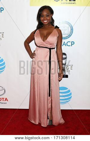 LOS ANGELES - FEB 11:  Melissa Strong at the 48th NAACP Image Awards Arrivals at Pasadena Conference Center on February 11, 2017 in Pasadena, CA
