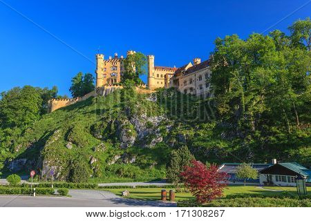 Hohenschwangau Castle at Fussen city Bavaria Germany