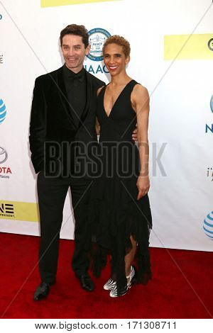 LOS ANGELES - FEB 11:  Marta Cunningham, James Frain at the 48th NAACP Image Awards Arrivals at Pasadena Civic Auditorium on February 11, 2017 in Pasadena, CA