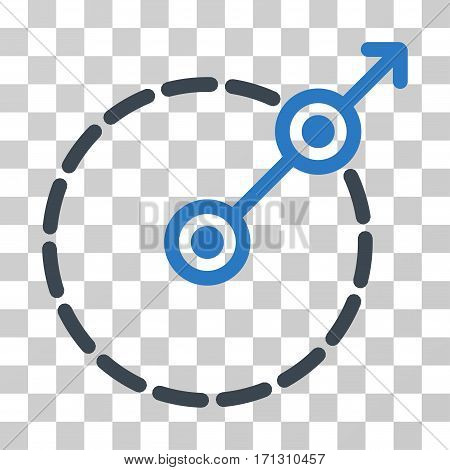Round Area Exit icon. Vector illustration style is flat iconic bicolor symbol smooth blue colors transparent background. Designed for web and software interfaces.