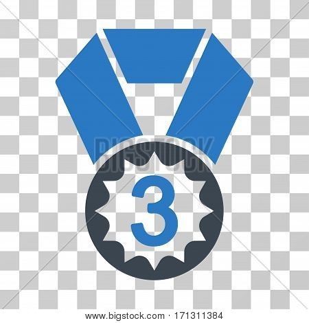 Third Place icon. Vector illustration style is flat iconic bicolor symbol smooth blue colors transparent background. Designed for web and software interfaces.