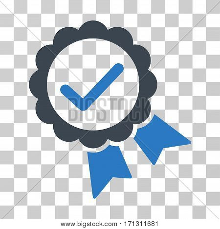 Validity Seal icon. Vector illustration style is flat iconic bicolor symbol smooth blue colors transparent background. Designed for web and software interfaces.