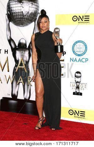 LOS ANGELES - FEB 11:  Taraji P. Henson at the 48th NAACP Image Awards Press Room at Pasadena Conference Center on February 11, 2017 in Pasadena, CA