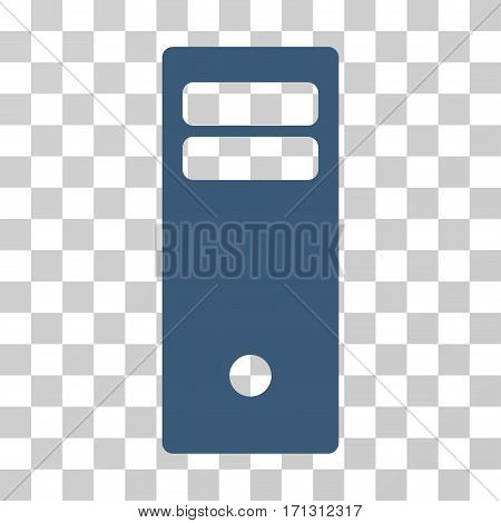 Computer Mainframe icon. Vector illustration style is flat iconic symbol blue color transparent background. Designed for web and software interfaces.