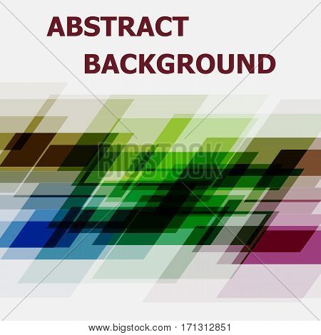 Abstract geometric overlapping design background, stock vector