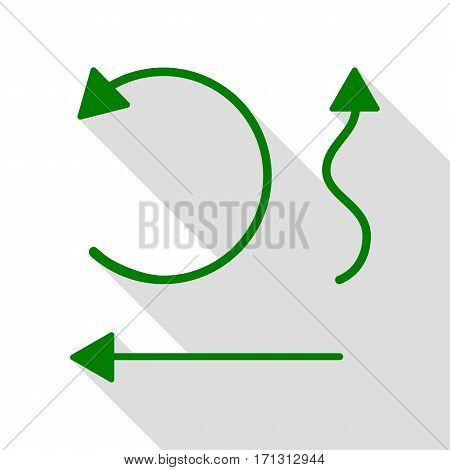 Simple set to Interface Arrows Green icon with flat style shadow path.