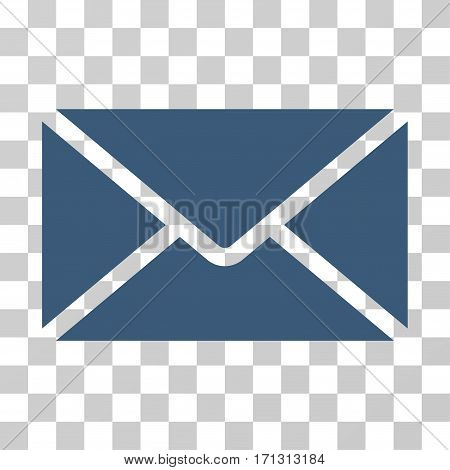 Mail Envelope icon. Vector illustration style is flat iconic symbol blue color transparent background. Designed for web and software interfaces.