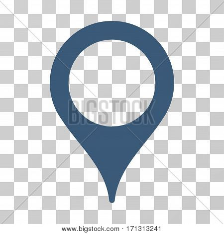 Map Pointer icon. Vector illustration style is flat iconic symbol blue color transparent background. Designed for web and software interfaces.
