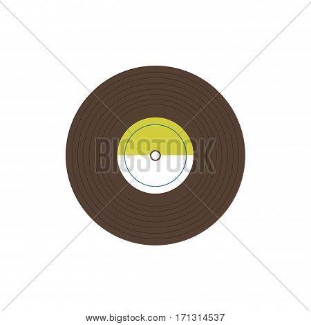 Vintage vinyl music icon vector illustration graphic design