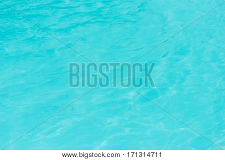 Close up of blue pool water background