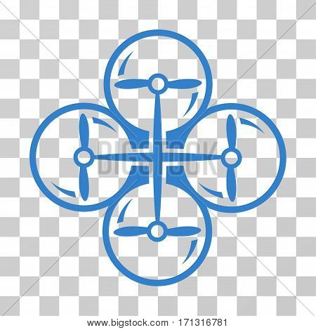 Drone Screws icon. Vector illustration style is flat iconic symbol cobalt color transparent background. Designed for web and software interfaces.