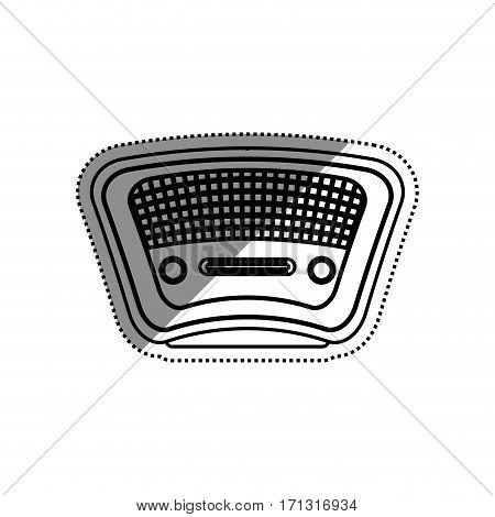 Vintage radio stereo icon vector illustration graphic design