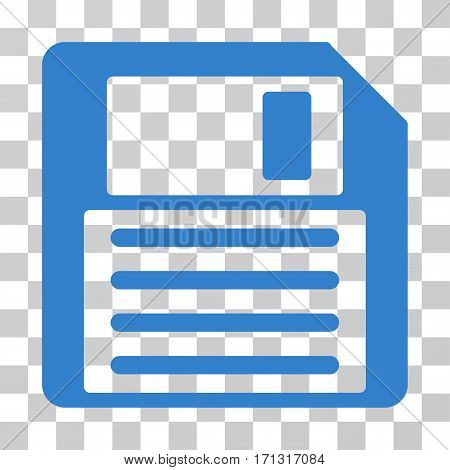 Floppy icon. Vector illustration style is flat iconic symbol cobalt color transparent background. Designed for web and software interfaces.