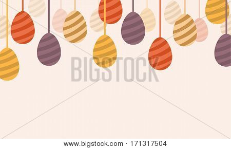 Happy easter egg design vector art collection stock