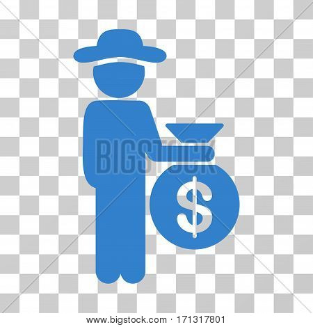 Gentleman Investor icon. Vector illustration style is flat iconic symbol cobalt color transparent background. Designed for web and software interfaces.