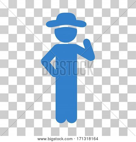 Gentleman Proposal icon. Vector illustration style is flat iconic symbol cobalt color transparent background. Designed for web and software interfaces.