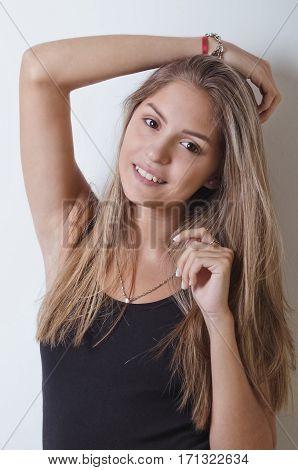 Lovely Brunette Young Woman Portrait