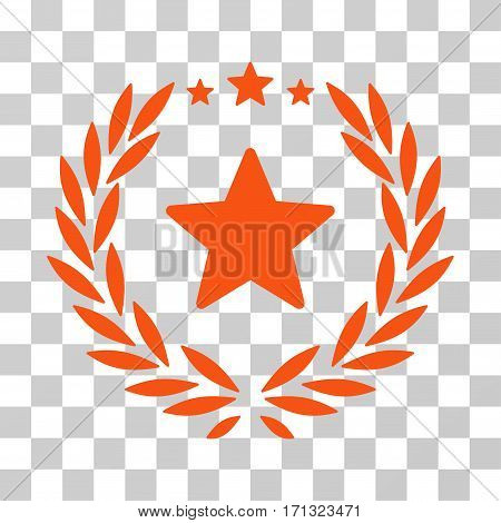 Proud Emblem icon. Vector illustration style is flat iconic symbol orange color transparent background. Designed for web and software interfaces.