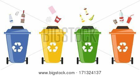 Trash, garbage tank icon. Flat design, vector illustration, vector.