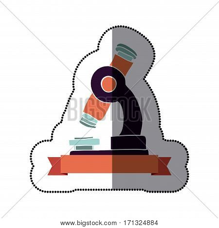 microscope icon stock image, vector illustration design