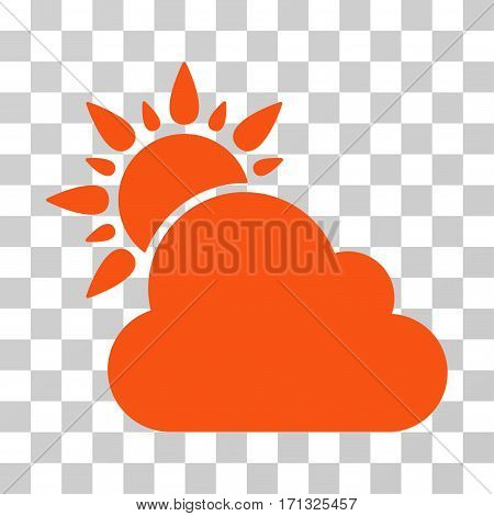 Weather icon. Vector illustration style is flat iconic symbol orange color transparent background. Designed for web and software interfaces.