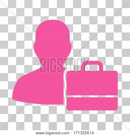Accounter icon. Vector illustration style is flat iconic symbol pink color transparent background. Designed for web and software interfaces.