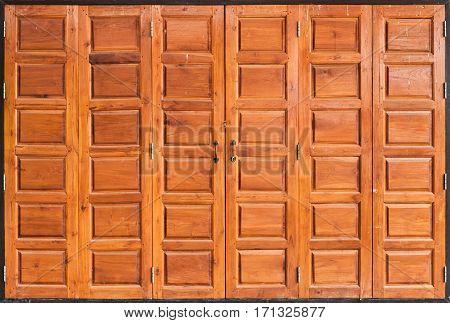 Old Teak Wood Door Background / Texture