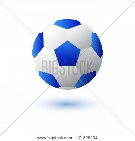 Soccer ball or football Vector isolated on white background with shadow