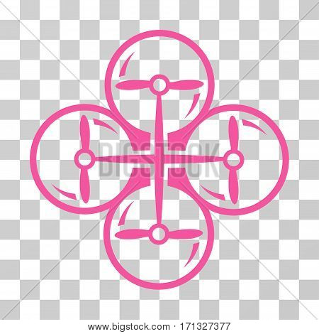 Drone Screws icon. Vector illustration style is flat iconic symbol pink color transparent background. Designed for web and software interfaces.