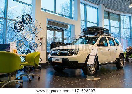 Showroom And Car Renault Of Dealership Tehzentr Gusar In Kirov City In 2016