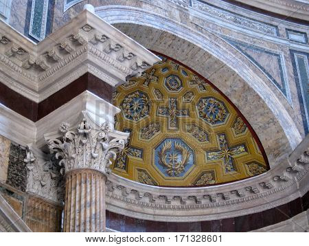 Intricate Workmanship in a cathedral in Italy