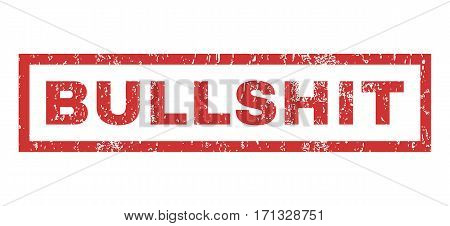 Bullshit text rubber seal stamp watermark. Caption inside rectangular banner with grunge design and unclean texture. Horizontal vector red ink sticker on a white background.